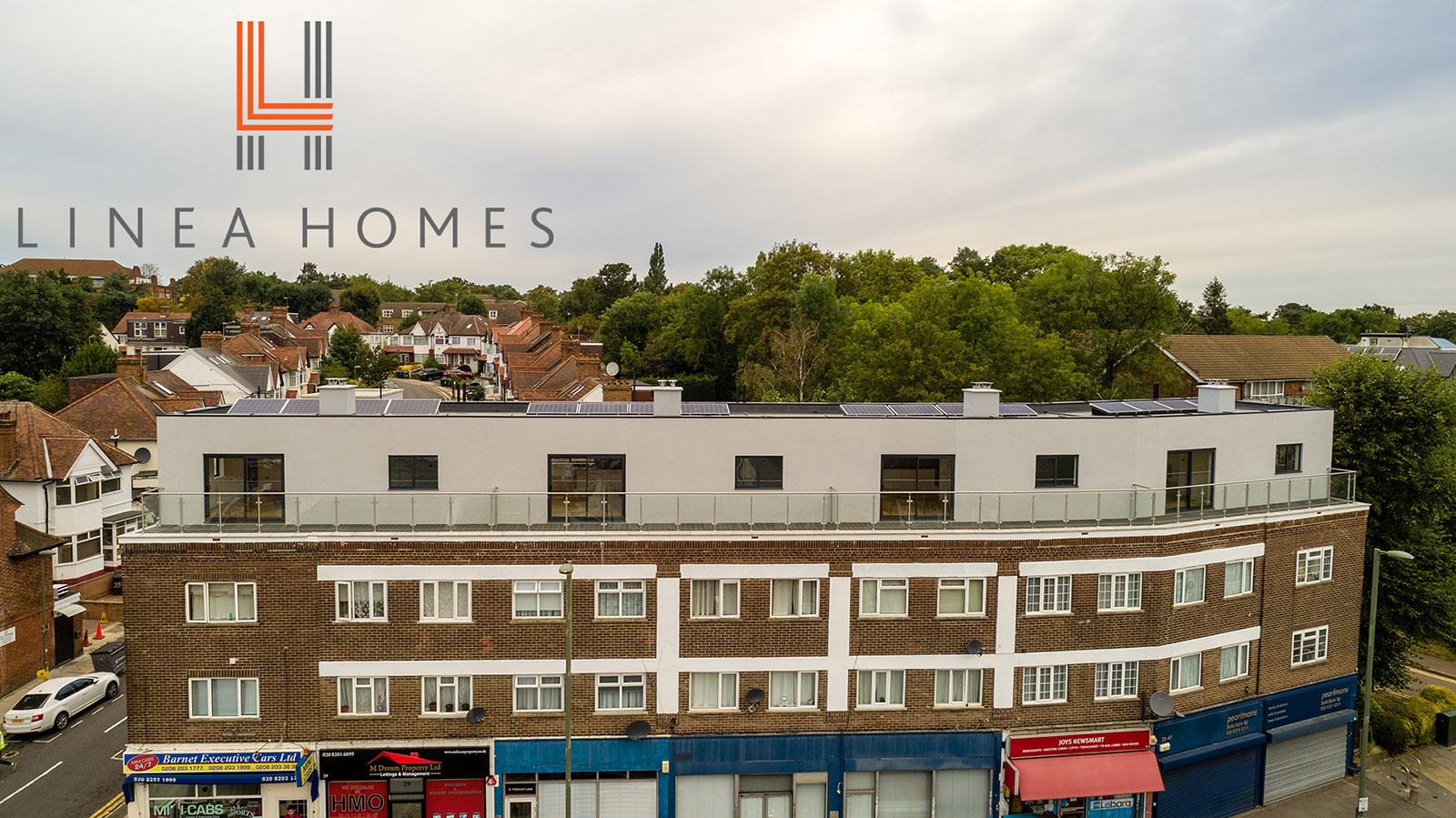 Aerial photos of flats in Hendon