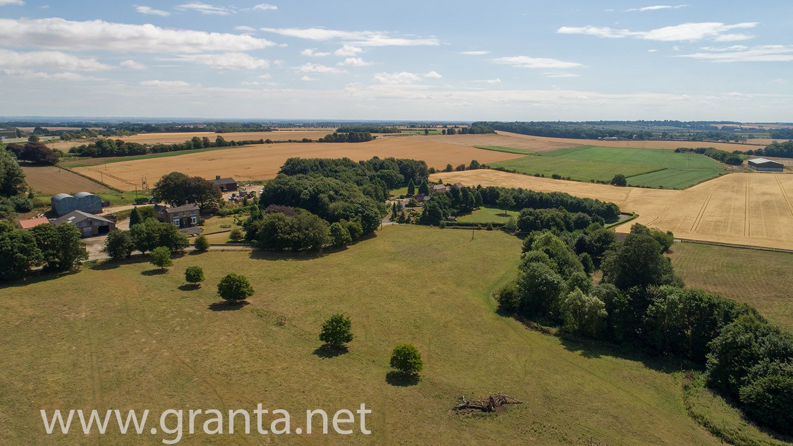 Drone aerial photo of archaeological site near Harpswell in North Lincs