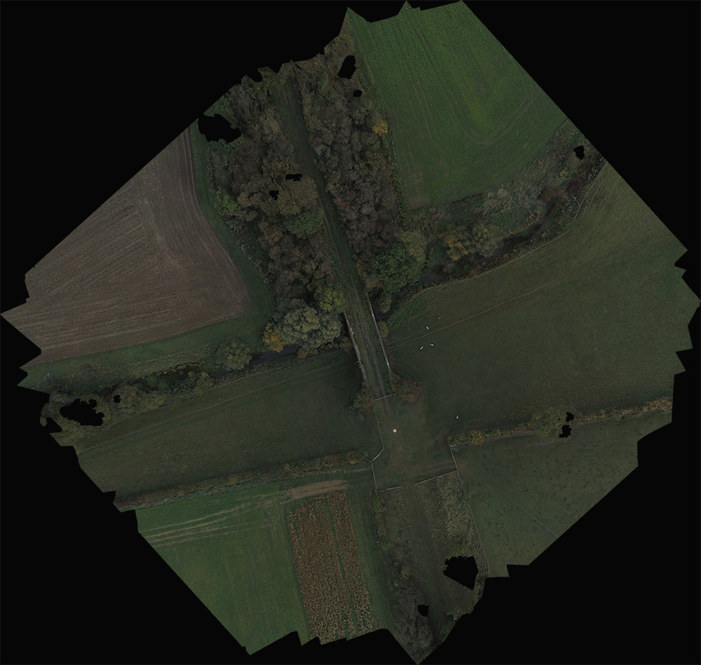 Scaled down, jpeg render of an orthomosaic tiff that we produce from multiple drone images